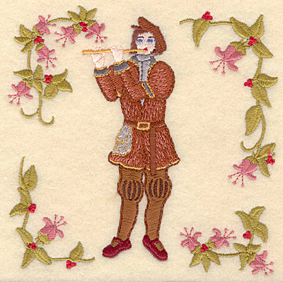 Embroidery Design: K Eleven pipers piping4.98w X 5.00h