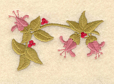 Embroidery Design: Three flowers3.00w X 1.95h