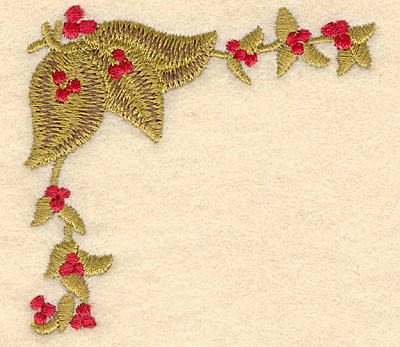 Embroidery Design: Holly with berries3.01w x 2.87h