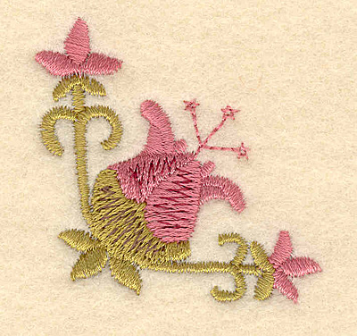 Embroidery Design: Flower with buds1.87w x 2.01h