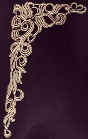 Embroidery Design: Lace 3rd Ed. Vol.4 no.075.09w X 11.62h
