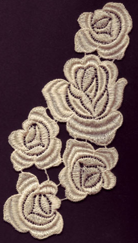Embroidery Design: Lace 3rd Ed. Vol.4 no.153.71w X 6.77g