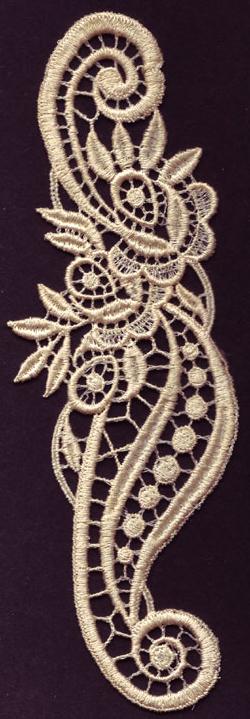 Embroidery Design: Lace 3rd Ed. Vol.4 no.182.28w X 6.64h