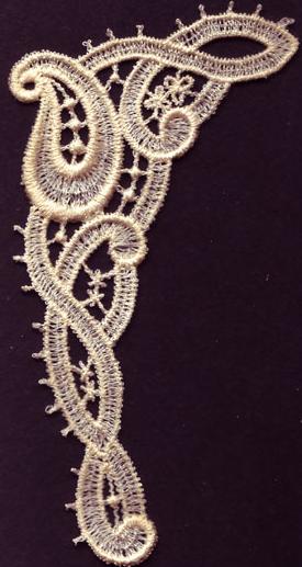 Embroidery Design: Lace 3rd Ed. Vol.3 no.423.48w X 4.68h