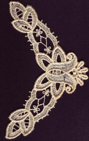 Embroidery Design: Lace 3rd Ed. Vol.3 no.443.17w X 4.80h