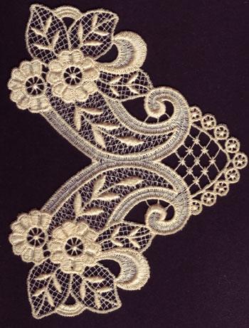 Embroidery Design: Lace 3rd Ed. Vol.6 no.575.02w X 3.36h