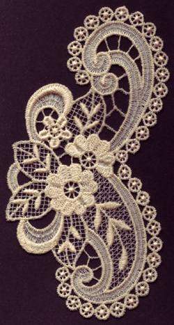 Embroidery Design: Lace 3rd Ed. Vol.6 no.593.67w X 6.86h