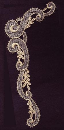 Embroidery Design: Lace 3rd Ed. Vol.1 no.644.24w X 8.48h
