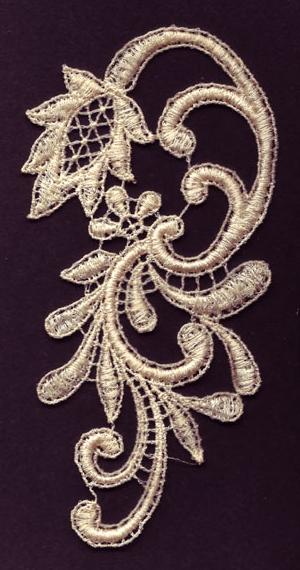 Embroidery Design: Lace 3rd Ed. Vol.3 no.663.11w X 4.76h