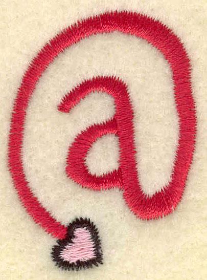 Embroidery Design: At symbol1.25w X 1.73h