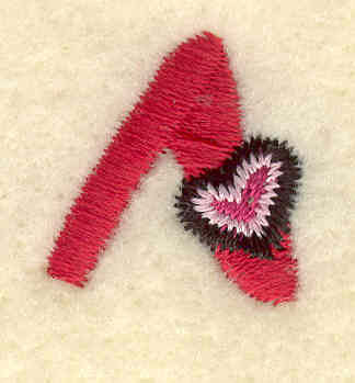 Embroidery Design: Caret symbol0.79w X 0.82h