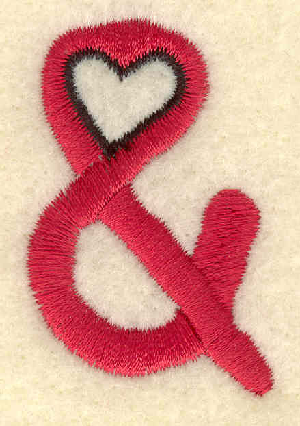 Embroidery Design: And symbol1.22w X 1.86h