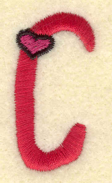 Embroidery Design: Uppercase C0.87w X 1.75h