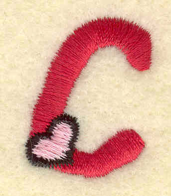 Embroidery Design: Lowercase c0.83w X 1.12h