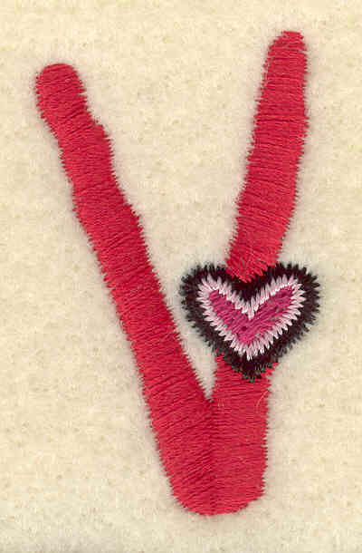Embroidery Design: Uppercase V1.05w X 1.74h