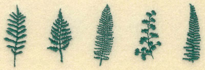 Embroidery Design: Small Row of Ferns5.24w X 1.70h