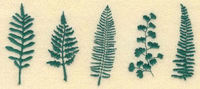 Embroidery Design: Medium Row of Ferns6.93w X 3.08h