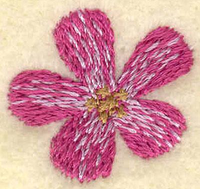Embroidery Design: Medium Flower1.00w X 0.95h
