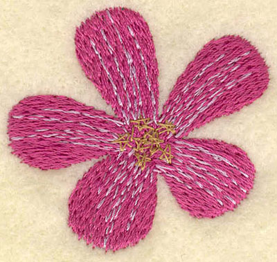 Embroidery Design: Large Flower1.81w X 1.71h