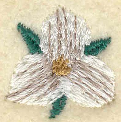 Embroidery Design: Small Trillium0.81w X 0.82h