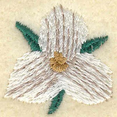 Embroidery Design: Medium Trillium1.09w X 1.08h