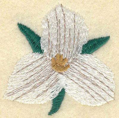 Embroidery Design: Large Trillium1.97w X 1.97h