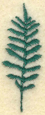 Embroidery Design: Small Fern A0.64w X 1.66h