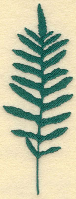 Embroidery Design: Large Fern A2.27w X 6.00h