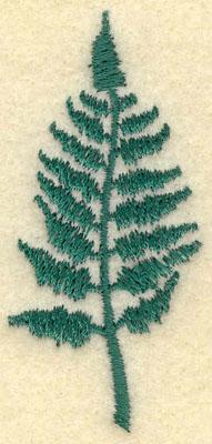 Embroidery Design: Medium Fern B1.17w X 2.61h