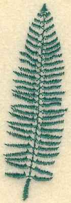 Embroidery Design: Medium Fern C0.97w X 2.98h