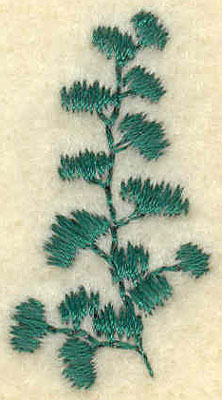 Embroidery Design: Small Fern D0.71w X 1.34h