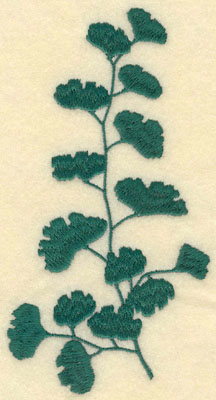 Embroidery Design: Large Fern D3.21w X 6.00h