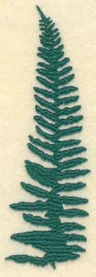 Embroidery Design: Large Fern E1.95w X 6.01h