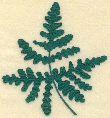 Embroidery Design: Large Fern F4.13w X 4.51h
