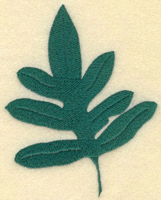 Embroidery Design: Large Fern G3.51w X 4.50h