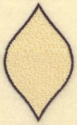 Embroidery Design: Leaf Filled Medium1.68w X 2.76h