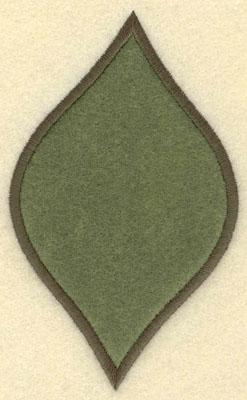 Embroidery Design: Leaf Applique Large3.04w X 5.02h