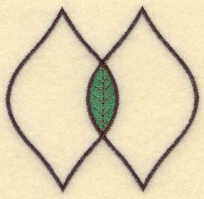 Embroidery Design: Double Leaf Motif Medium Open2.88w X 2.76h