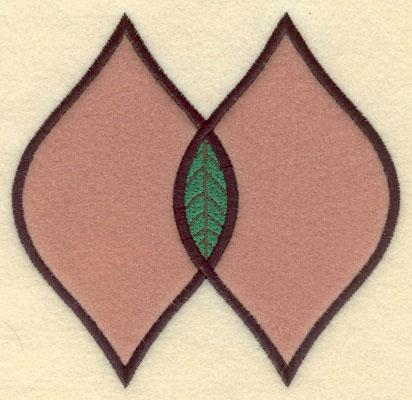 Embroidery Design: Double Leaf Motif Large Applique5.18w X 5.02h