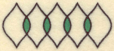 Embroidery Design: Five Leaf Motif Small3.51w X 1.53h