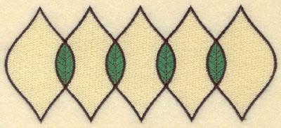Embroidery Design: Five Leaf Motif Medium Filled6.40w X 2.77h