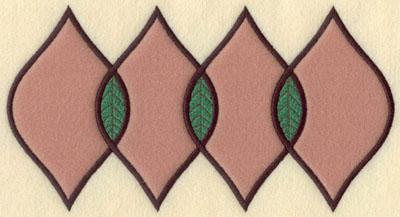 Embroidery Design: Four Leaf Motif Large Applique9.47w X 5.02h