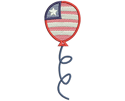Embroidery Design: 4th of July Balloon Mylar 2.40w X 6.55h