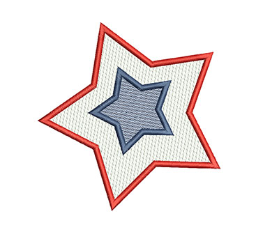 Embroidery Design: 4th of July Star Mylar 4.54w X 4.69h