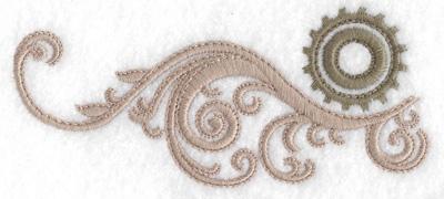 Embroidery Design: Cog and swirls 1.83w X 4.18