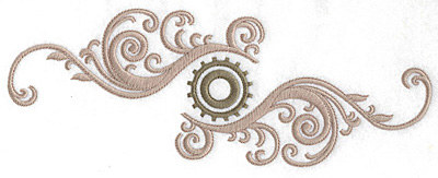 Embroidery Design: Cog and swirls double large  10.01w X 3.76h