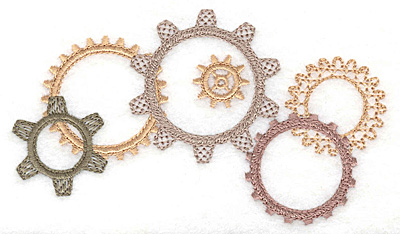 Embroidery Design: Cogs  5.00w X 2.85h