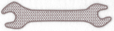 Embroidery Design: Wrench large 8.92w X 2.33h