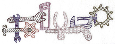 Embroidery Design: Tools and gear 9.74w X 3.54h