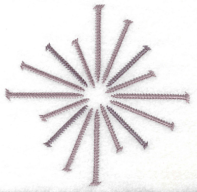 Embroidery Design: Circle of nails small 4.98w X 4.98h
